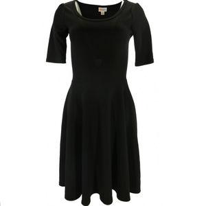 LULAROE Soft Knit Fit & Flare Mini Dress - Black